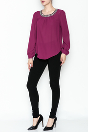 the clothing company Purple Embellished Blouse - Side cropped