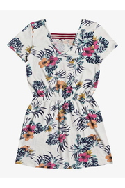 Roxy The Clouds Short Sleeve Dress - Front full body
