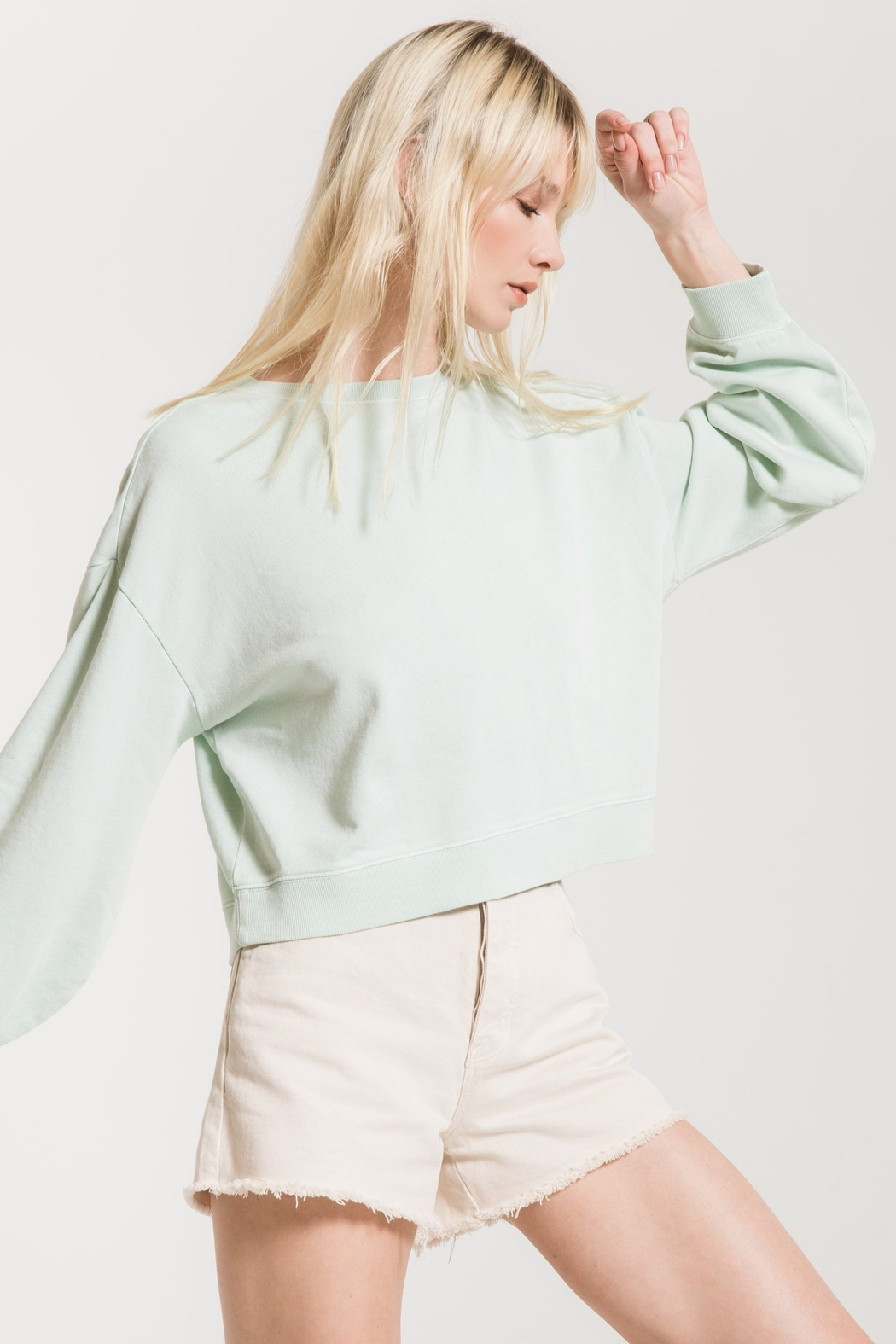 z supply The Cotton French Terry Pullover - Front Full Image