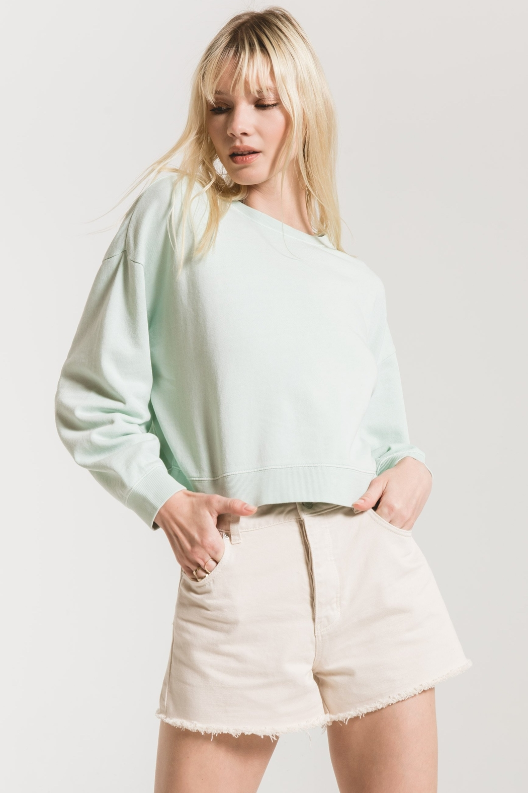 z supply The Cotton French Terry Pullover - Main Image