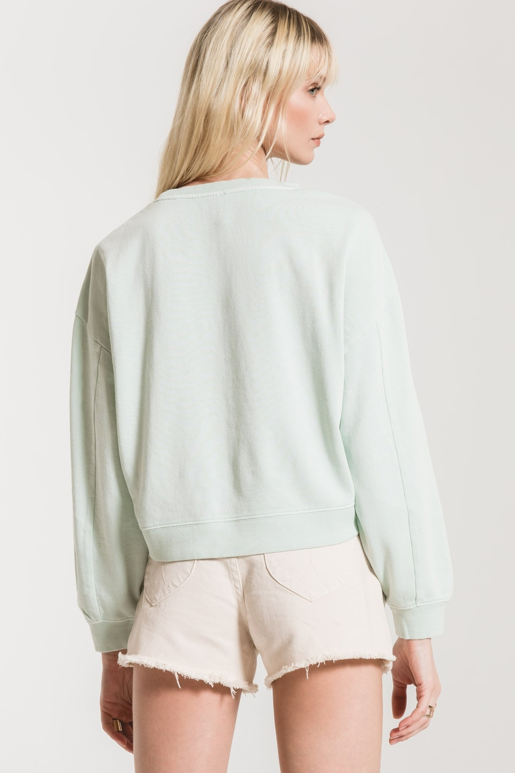 z supply The Cotton French Terry Pullover - Side Cropped Image