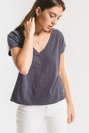 z supply The Cotton Slub Easy VNeck Tee - Side cropped