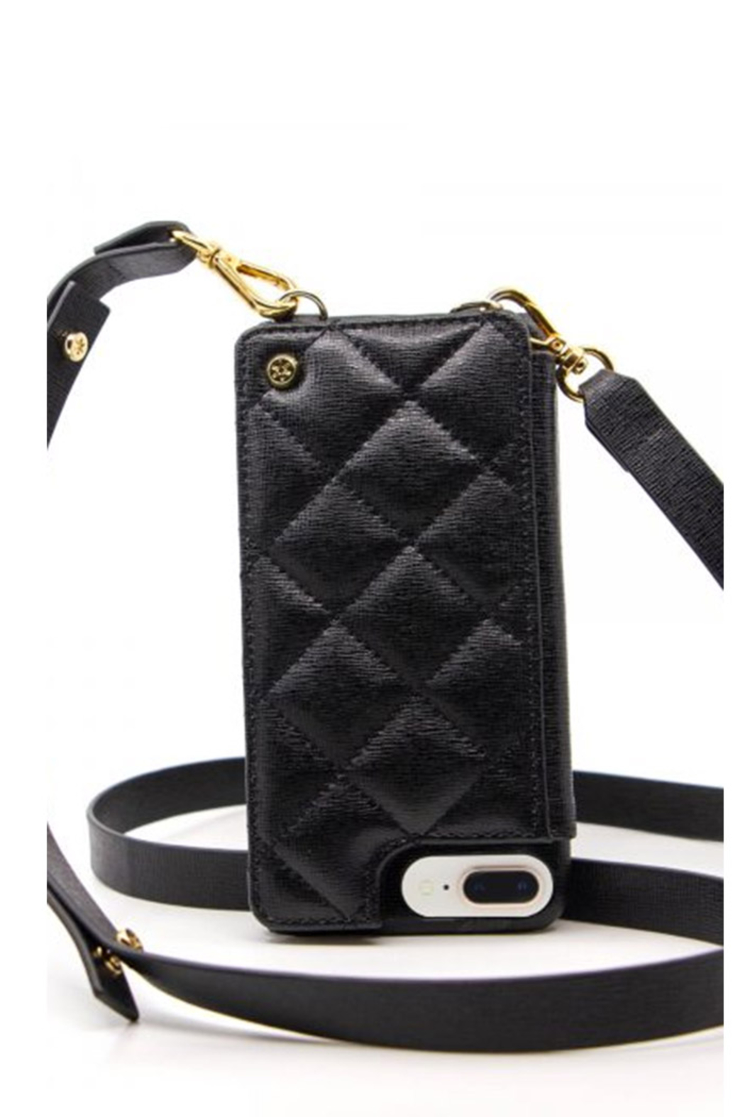 Goldno.8 The Crossbody Phone Case - Front Cropped Image