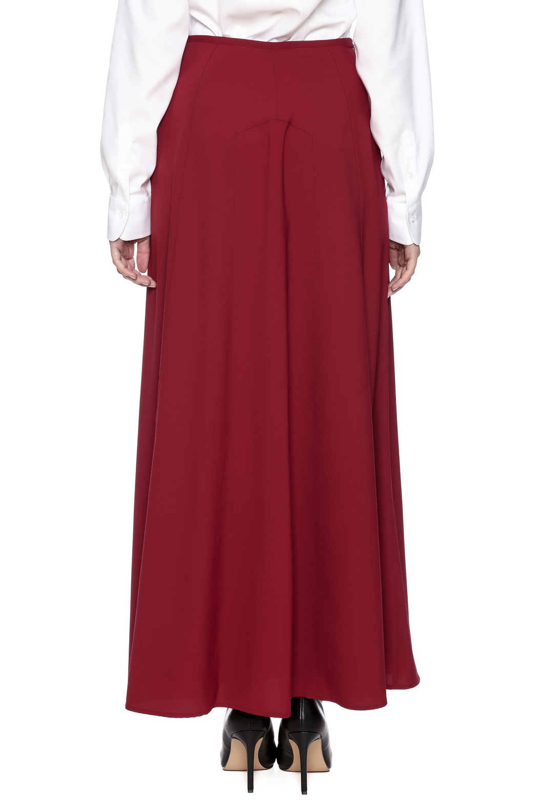 The Cue A Line Maxi Skirt - Back Cropped Image