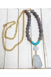 Fabulina Designs Delilah Druzy Necklace - Product Mini Image