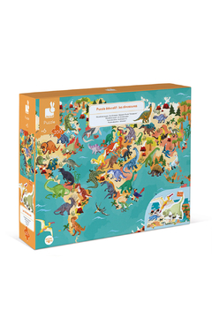 Janod The Dinosaurs 200 Pc Puzzle - Product List Image