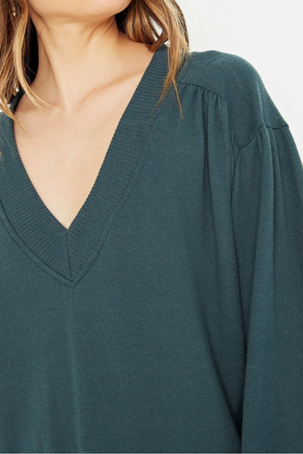 Project Social T The Distance Between Cozy V Neck - Side Cropped Image
