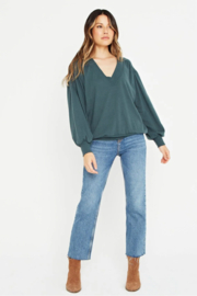 Project Social T The Distance Between Cozy V Neck - Back cropped