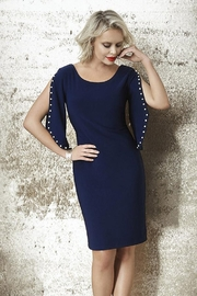 Frank Lyman  The Dotted Line Dress in Dark Blue - Product Mini Image