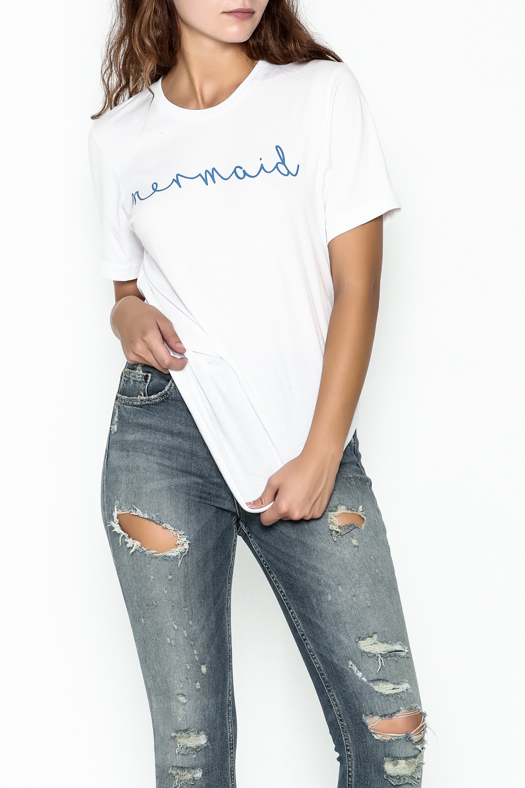 The Editor Mermaid Tee - Front Cropped Image
