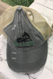 The Emerald Fox Boutique The Emerald Fox Trucker Hat with Ponytail insert - Product Mini Image