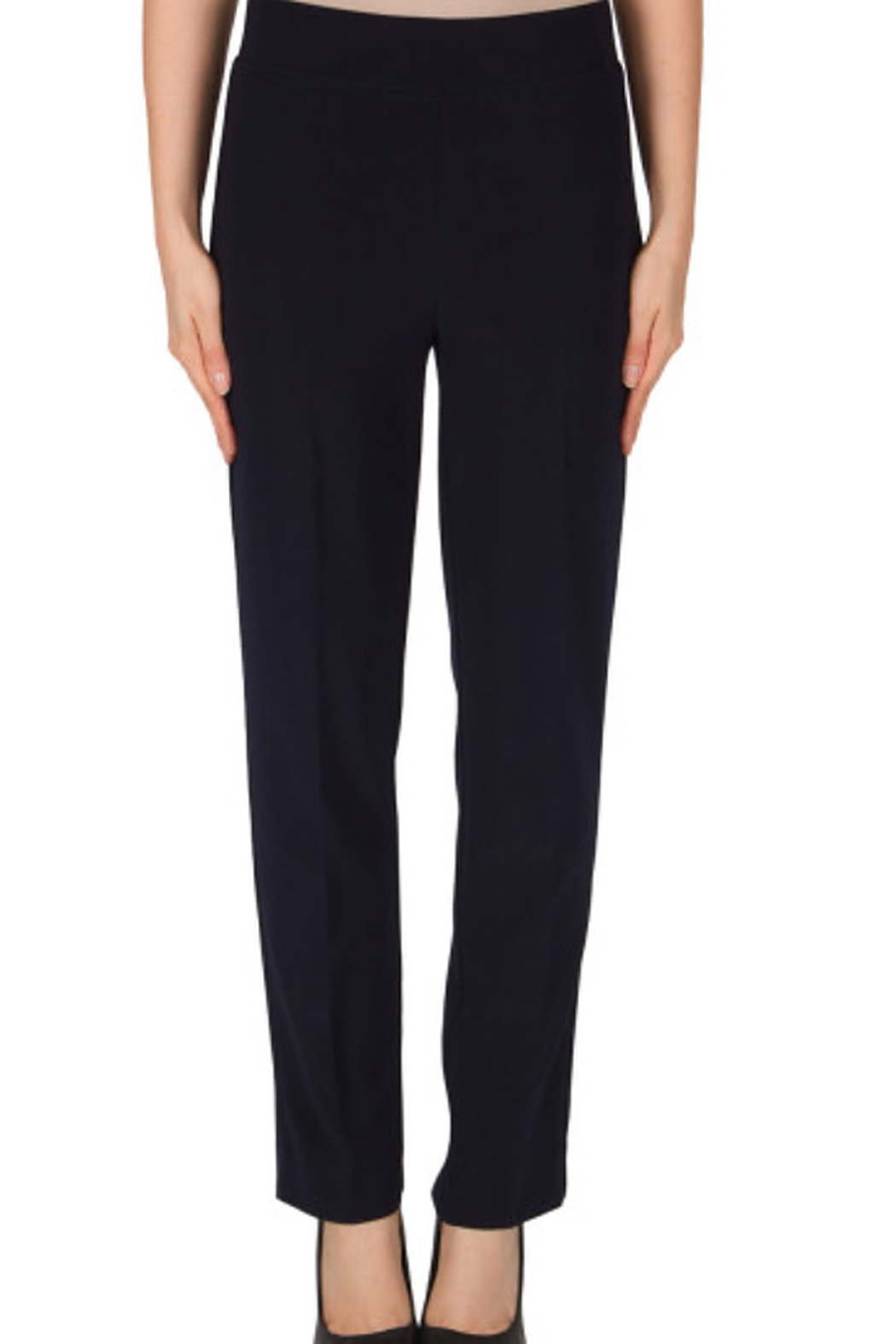 Joseph Ribkoff  The Essential Pant, Black, Navy, & White - Front Cropped Image