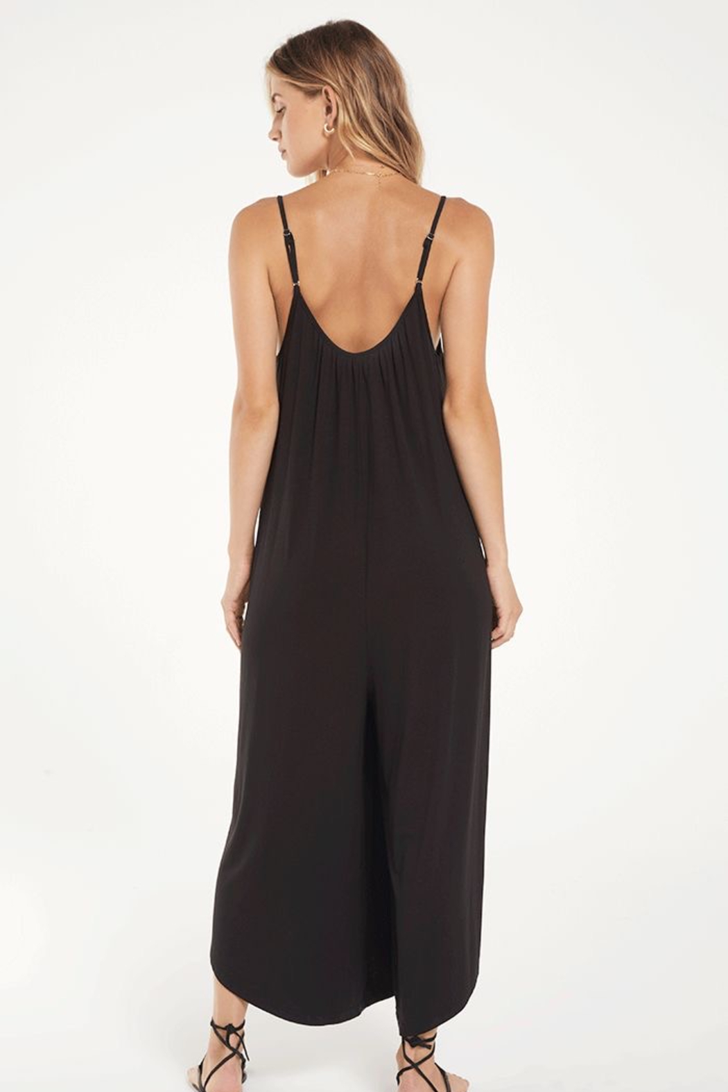 z supply The Flared Jumpsuit - Front Full Image
