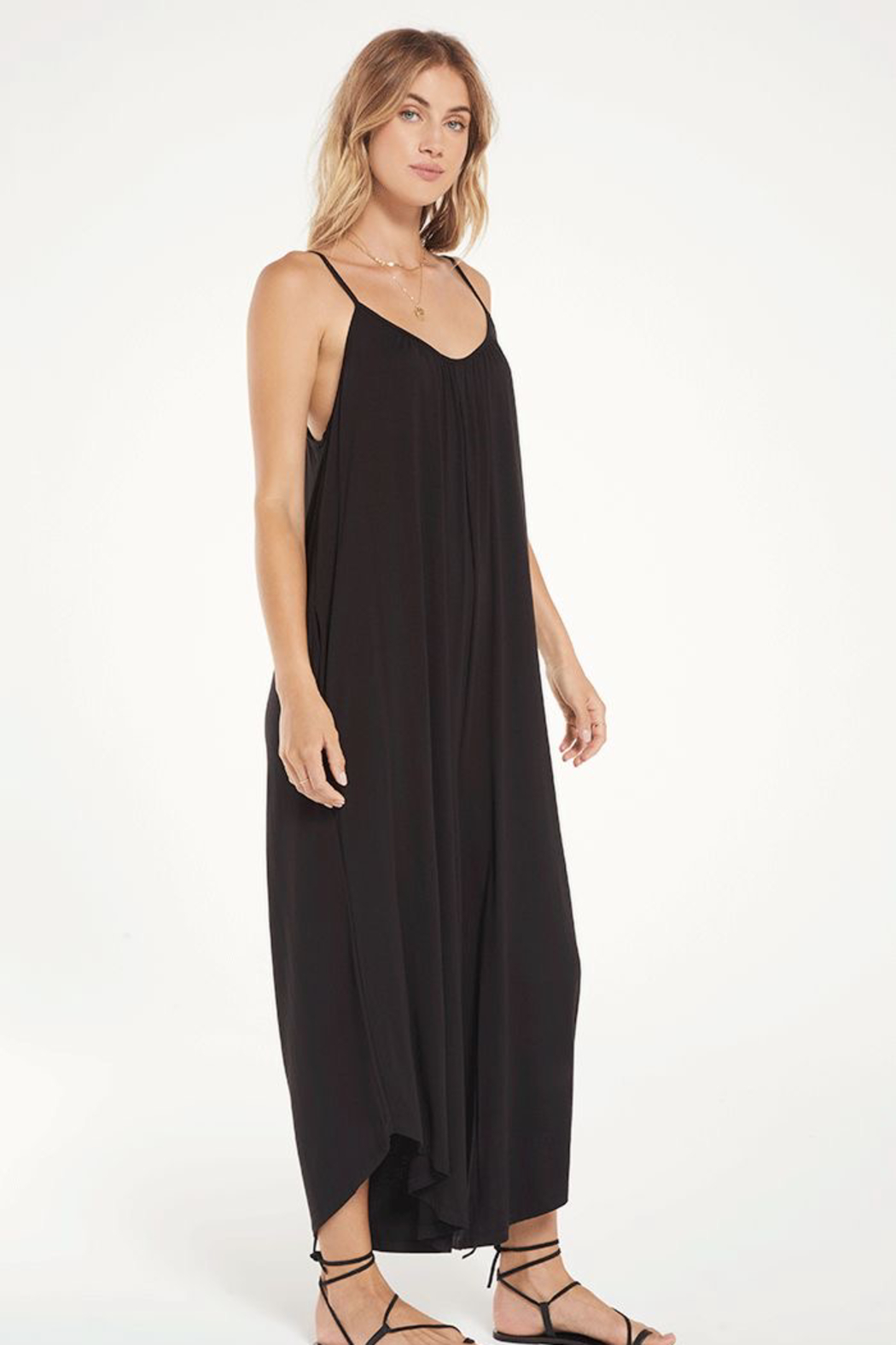 z supply The Flared Jumpsuit - Side Cropped Image