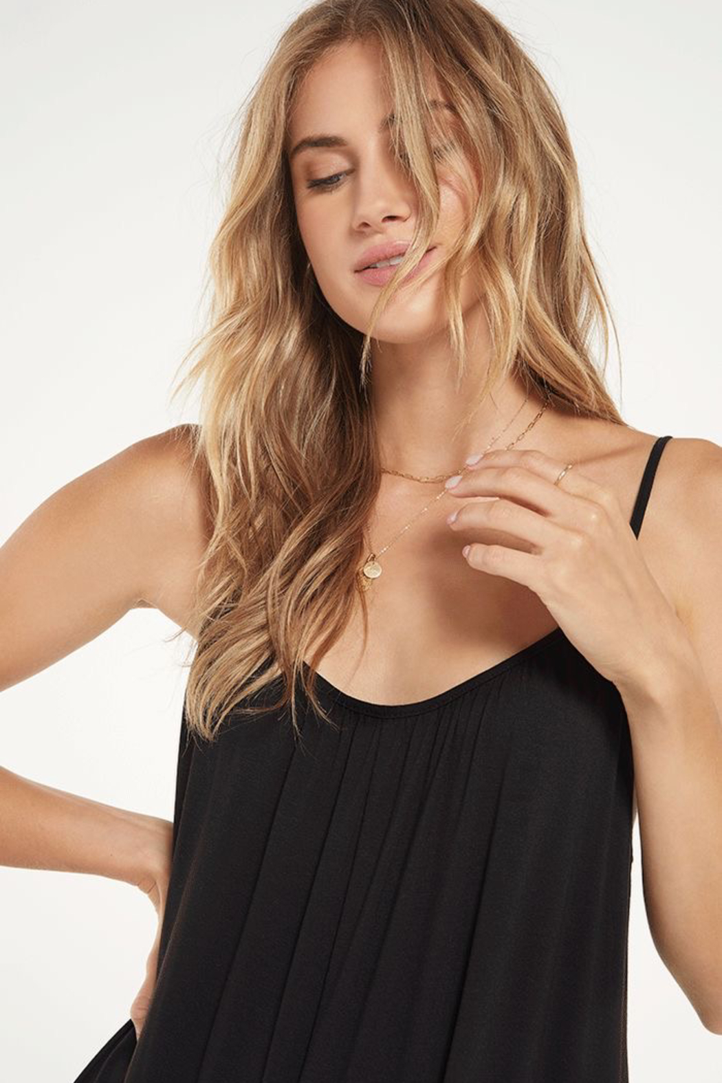 z supply The Flared Jumpsuit - Back Cropped Image