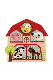 Janod The Friends Of The Farm Wooden Musical Puzzle - Product Mini Image