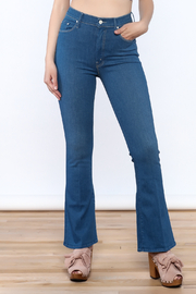 Mother The Funday Flare Blue Jean - Product Mini Image