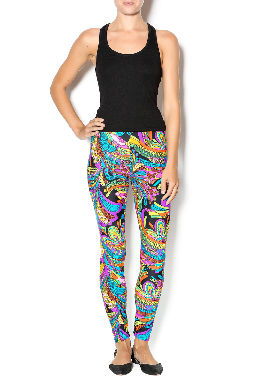 The Funny Bunnies Multicolor Leggings - Front Full Image