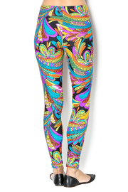 The Funny Bunnies Multicolor Leggings - Back cropped