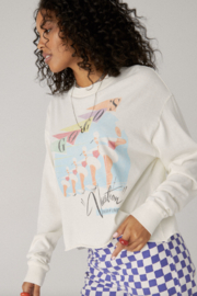 Daydreamer  THE GOGO'S VACATION LONG SLEEVE CROP - Product Mini Image