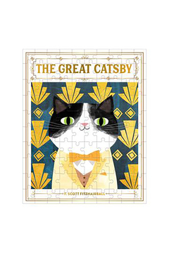 galison The Great Catsby Bookish Cats 100 Piece Puzzle - Alternate List Image