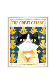 galison The Great Catsby Bookish Cats 100 Piece Puzzle - Product Mini Image