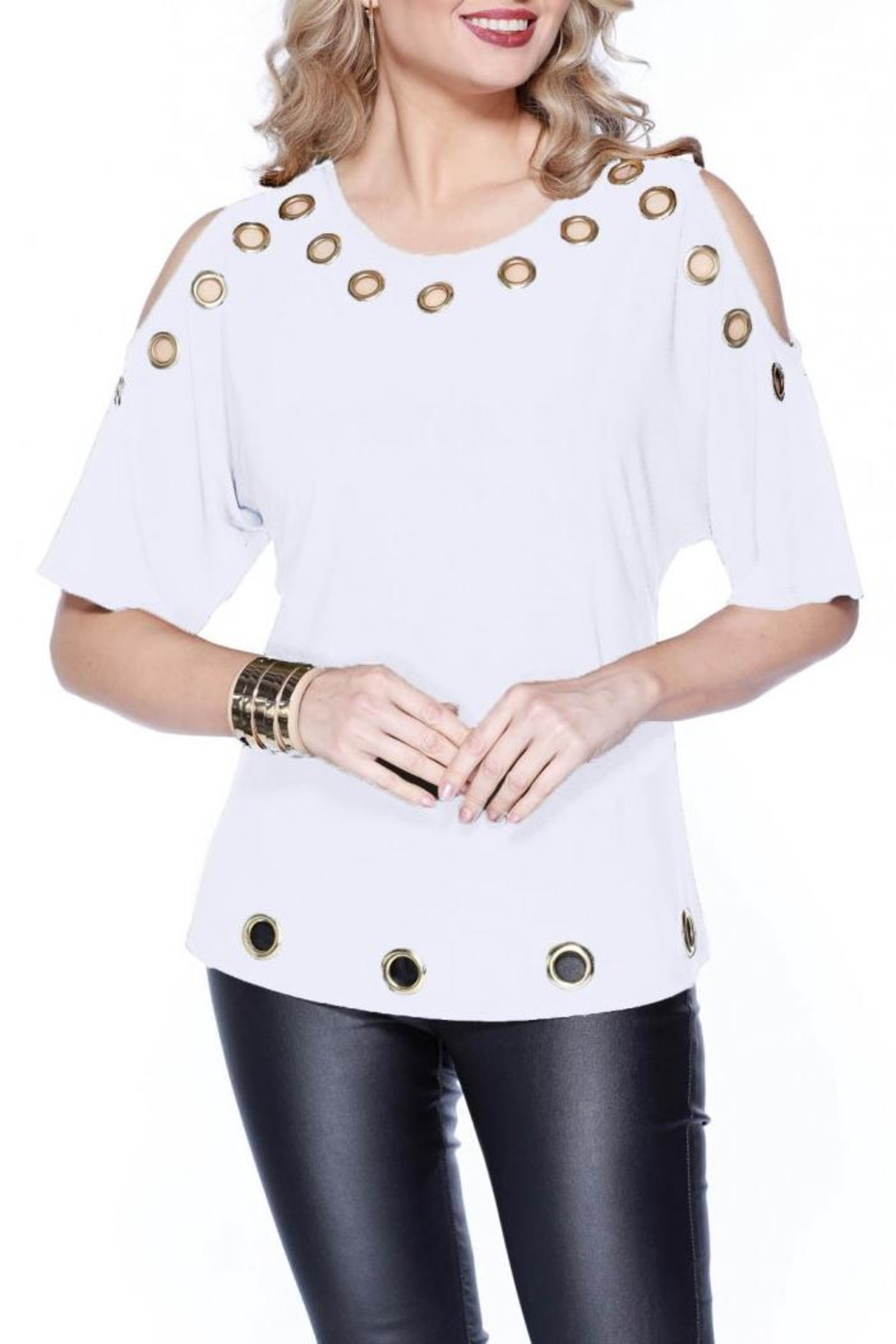 Talk of the Walk The Grommet Top - Front Cropped Image