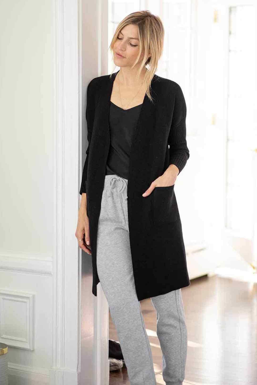 Mer Sea & Co The Hampton Cashmere Duster - Back Cropped Image