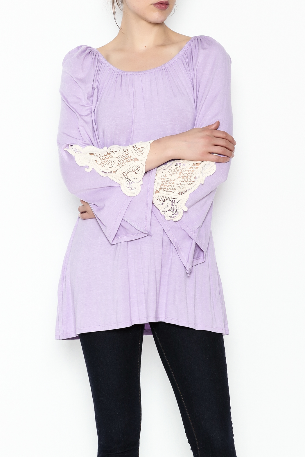 the Hanger Crochet Lace Top - Front Cropped Image