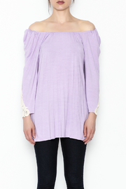 the Hanger Crochet Lace Top - Front full body