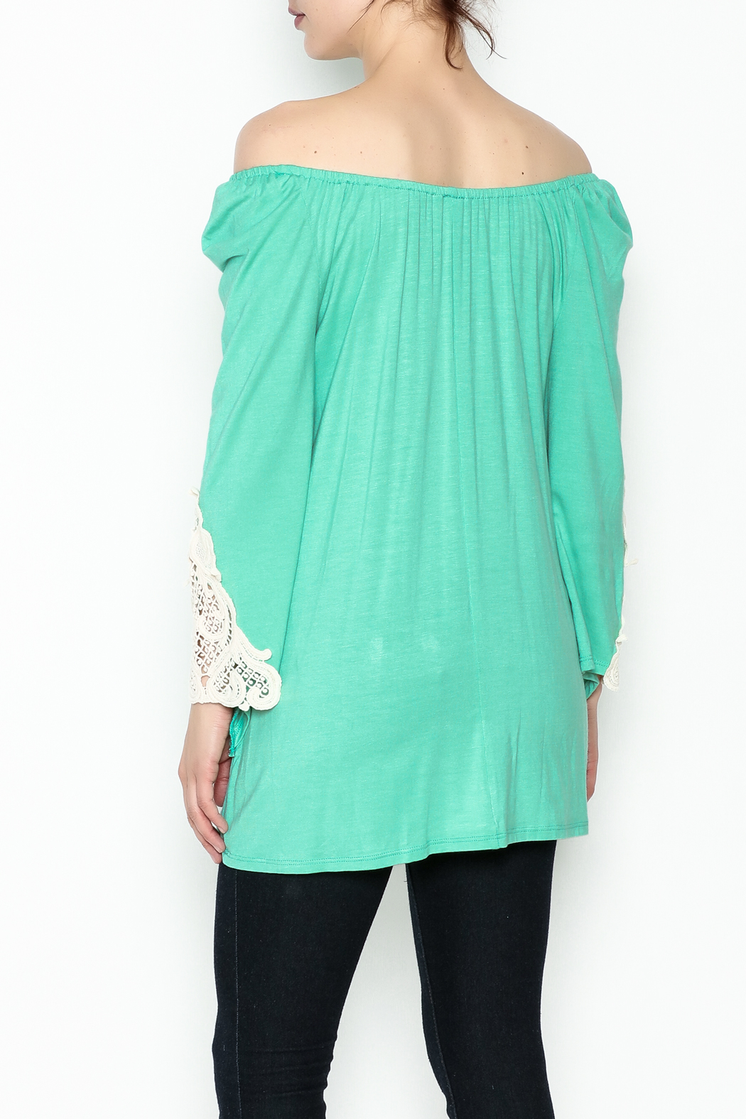 the Hanger Crochet Lace Top - Back Cropped Image