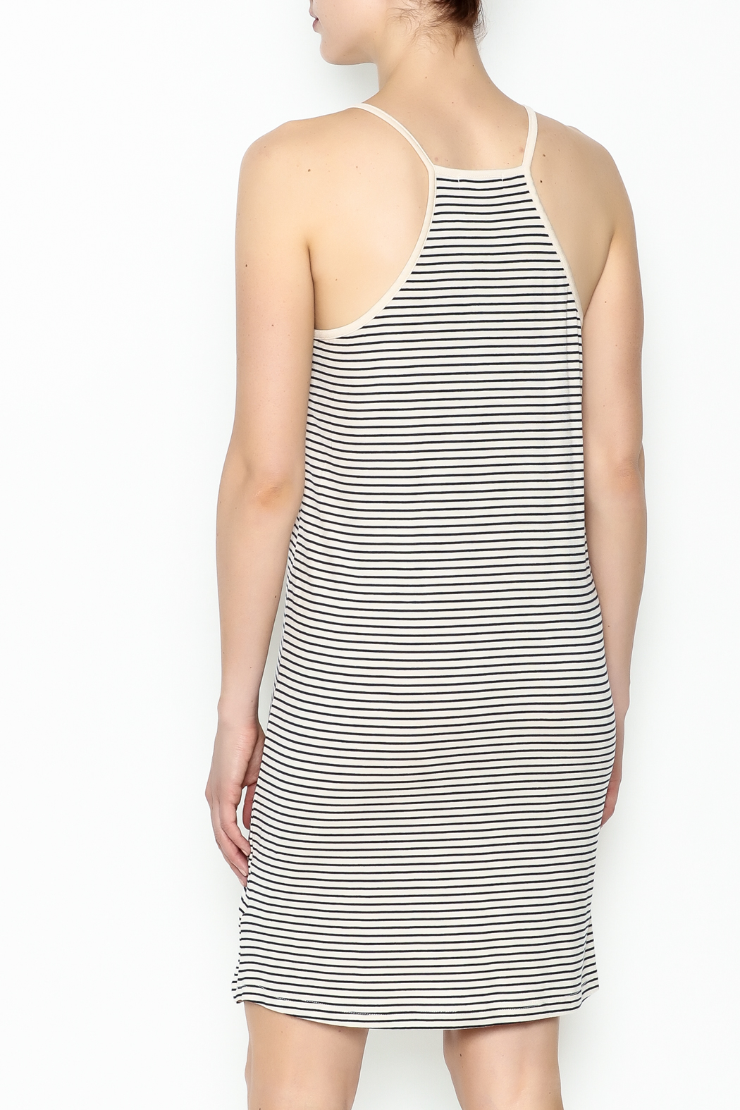 the Hanger Stripe Cami Dress - Back Cropped Image