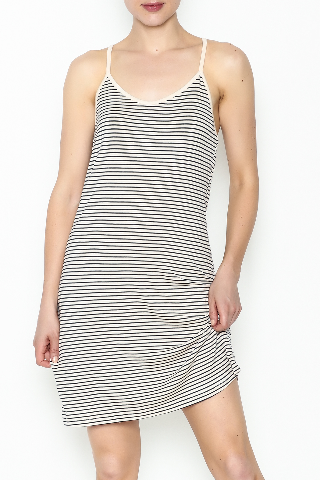the Hanger Stripe Cami Dress - Front Cropped Image