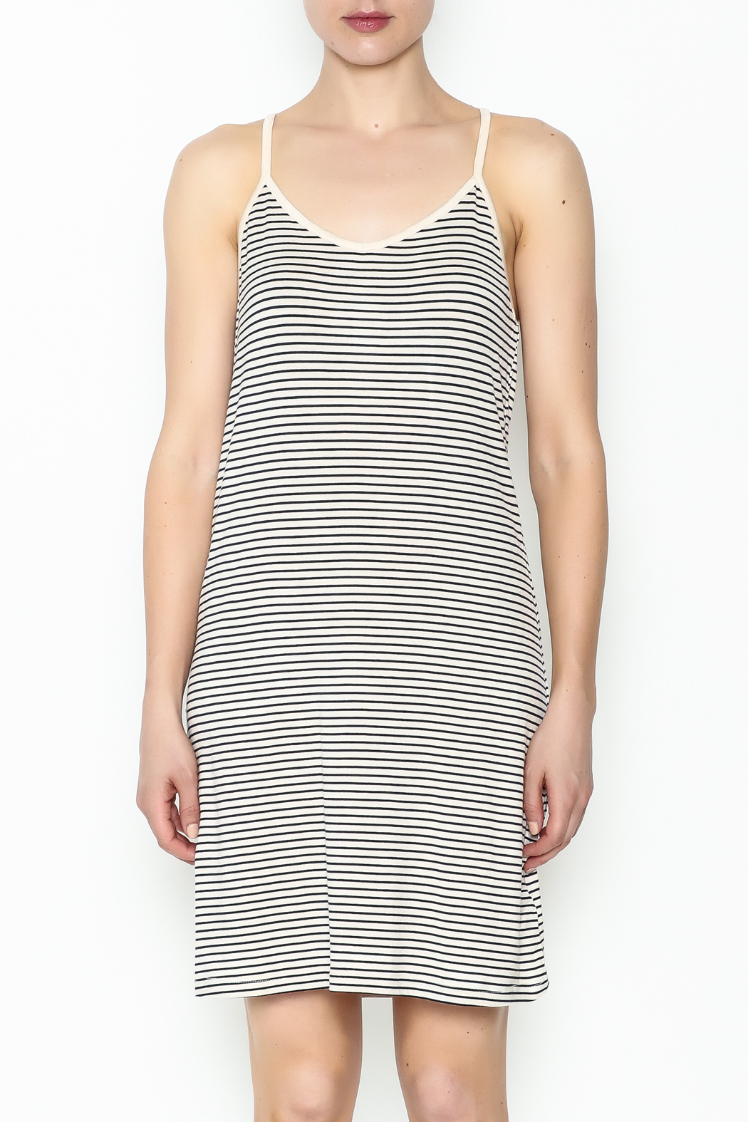 the Hanger Stripe Cami Dress - Front Full Image