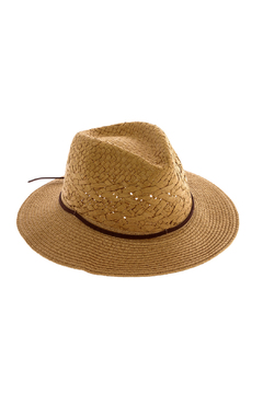 Shoptiques Product: Brown Straw Hat