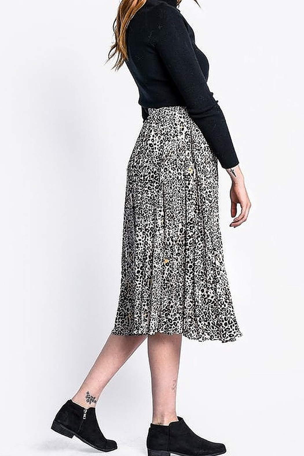 Pink Martini The Haven Skirt - Side Cropped Image