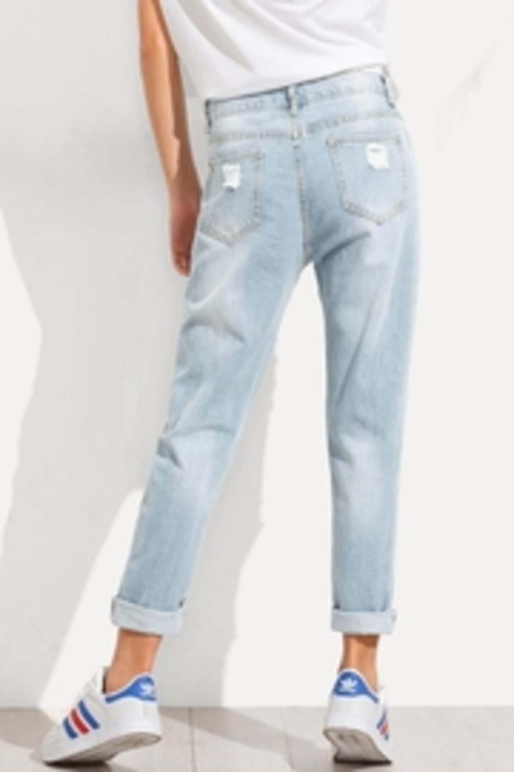 Wishlist The Jean Distressed - Back Cropped Image