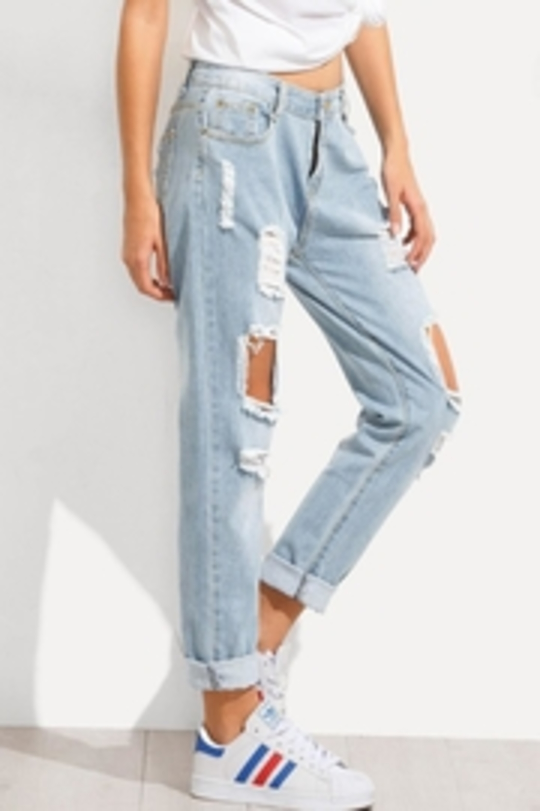 Wishlist The Jean Distressed - Side Cropped Image