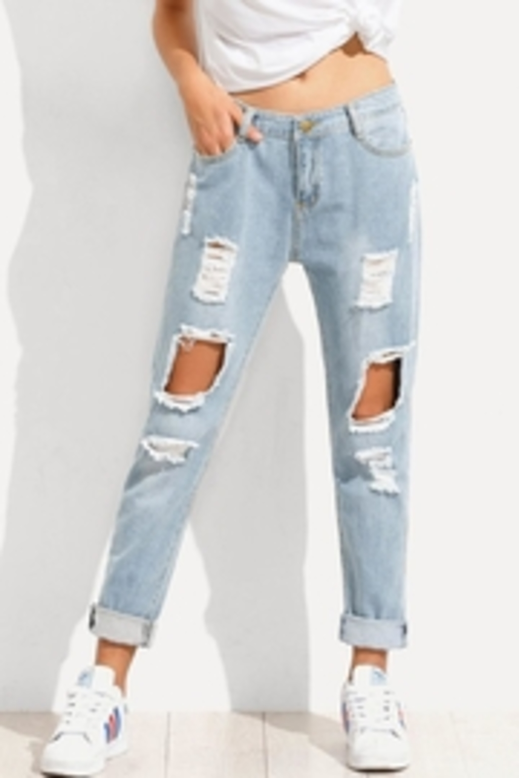 Wishlist The Jean Distressed - Front Full Image