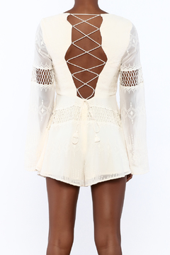 The JetSet Diaries Ivory Dokuma Romper - Alternate List Image