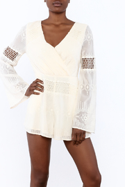 The JetSet Diaries Ivory Dokuma Romper - Product Mini Image