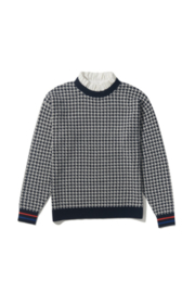 Kule The Lady Houndstooth Sweater With Detachable Collar - Product Mini Image