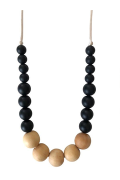 Chewable Charm The Landon - Black Teething Necklace - Product List Image