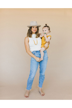 Chewable Charm The Landon - Mustard Yellow Teething Necklace - Alternate List Image