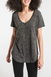 z supply The Leopard Pocket Tee - Product Mini Image