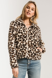 Zsupply The Leopard Sherpa Crop Jacket - Front cropped