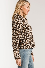 Zsupply The Leopard Sherpa Crop Jacket - Side cropped