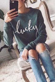 The Lovet Shop The Lucky Sweatshirt - Product Mini Image