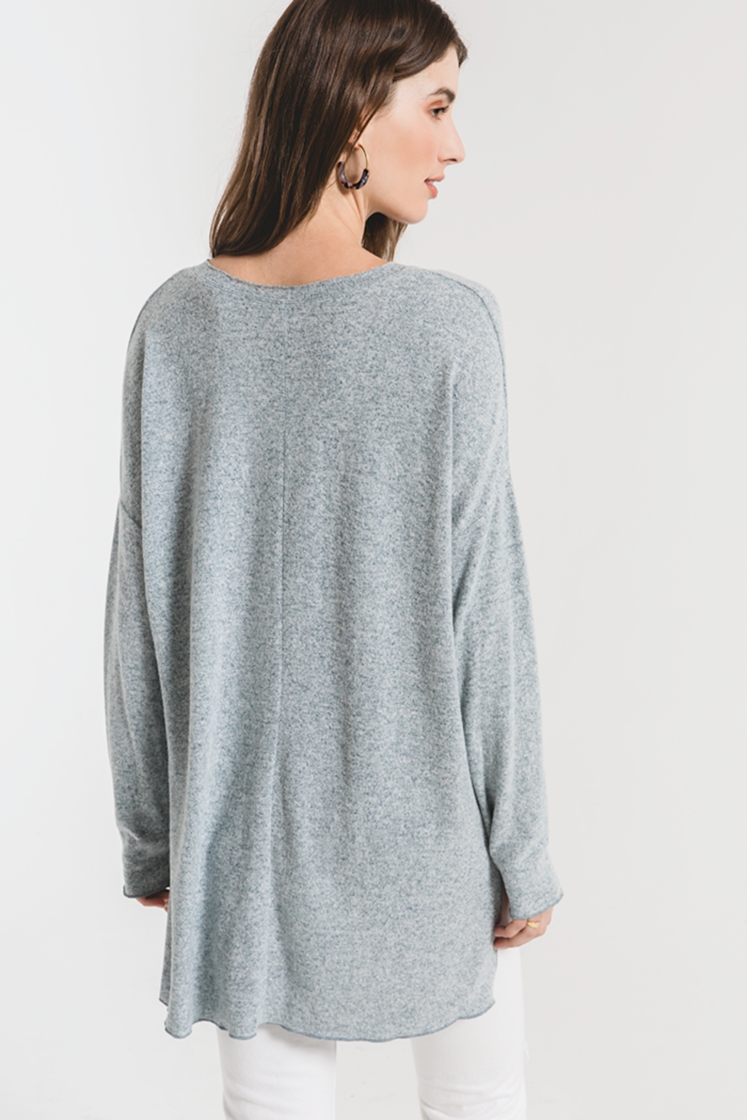 z supply THe Marled Sweater - Front Full Image
