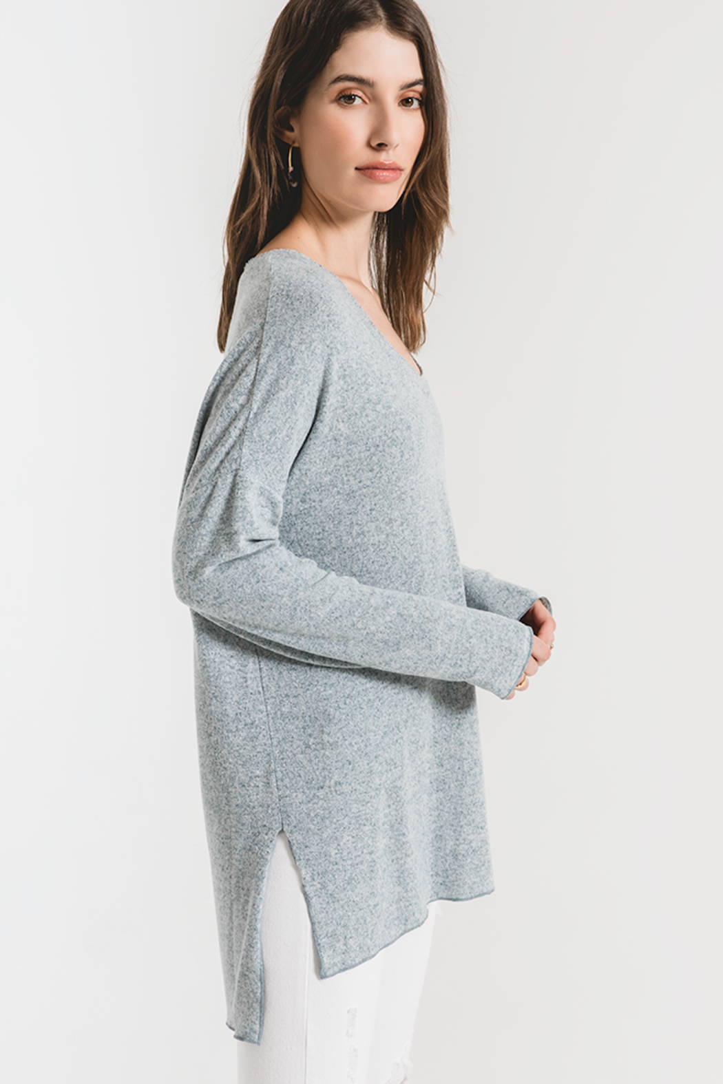 z supply THe Marled Sweater - Side Cropped Image